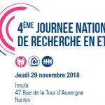 4 ème journée nationale de recherche en ETP – 29 novembre 2018 – Nantes