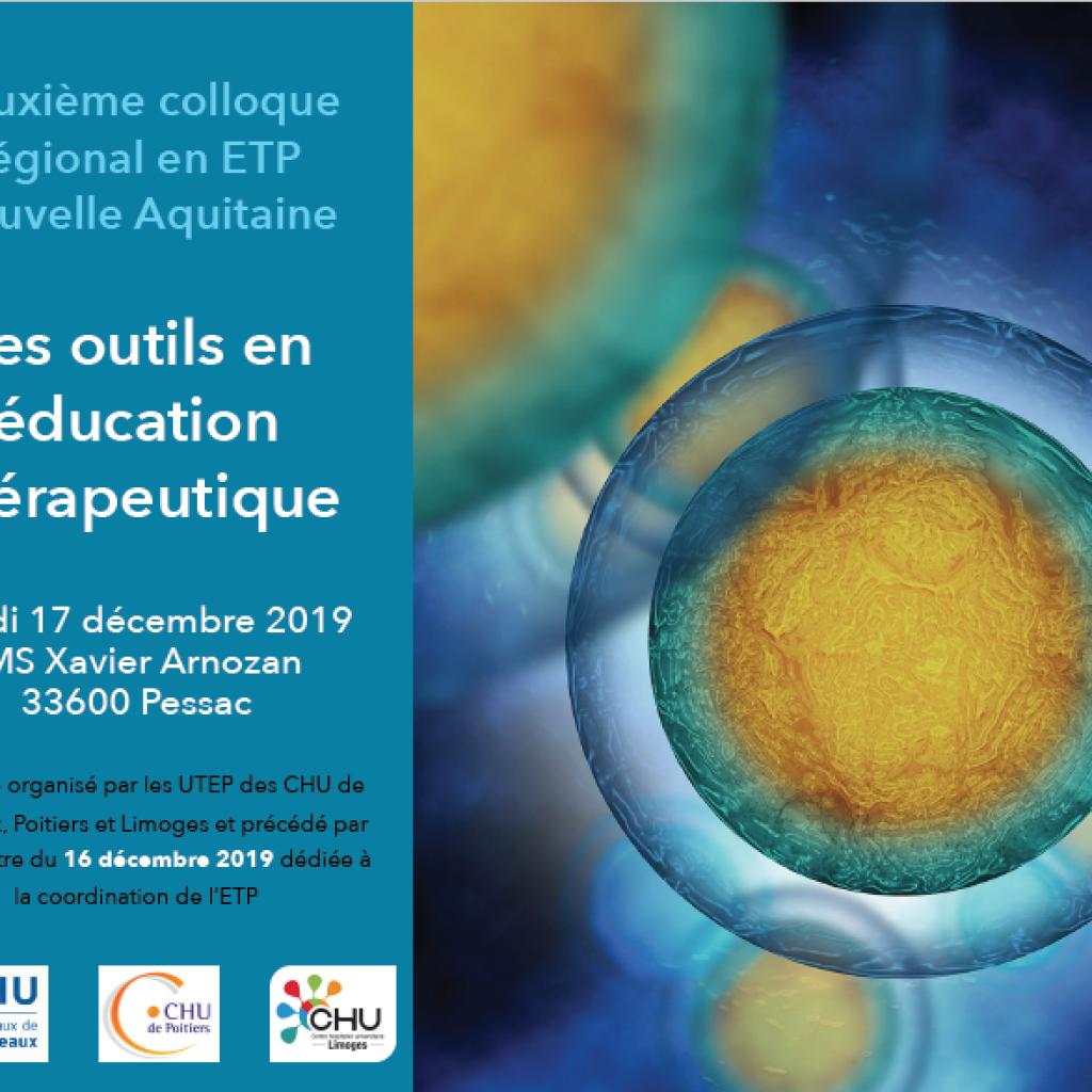 affiche du colloque ETP à Bordeaux