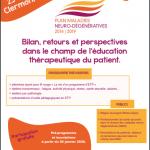 Plan maladies neuro-dégénératives 2014-2019 Bilans, retours et perspectives dans le champ de l'éducation thérapeutique du patient.
